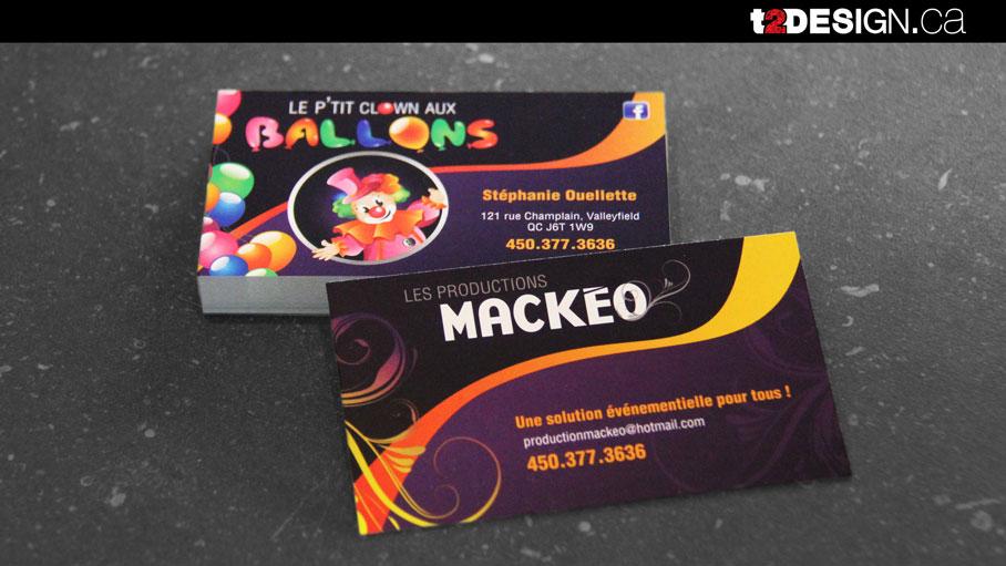 T2 design photos business card le ptit clown aux ballons colourmoves
